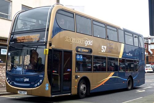 YN65 XDT 'Stagecoach South West' No. 15254 'Gold 57' Scania N230UD / Alexander Dennis Ltd. Enviro 400 on 'Dennis Basford's railsroadsrunways.blogspot.co.uk'