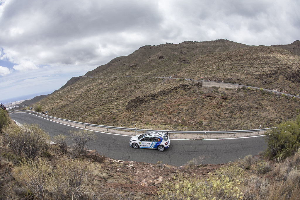 16 VON THURN UND TAXIS Albert (DEU) DEGANDT Bjorn (BEL), Skoda Fabia R5 Action during the 2017 European Rally Championship ERC Rally Islas Canarias, El Corte Inglés,  from May 4 to 6, at Las Palmas, Spain - Photo Gregory Lenormand / DPPI