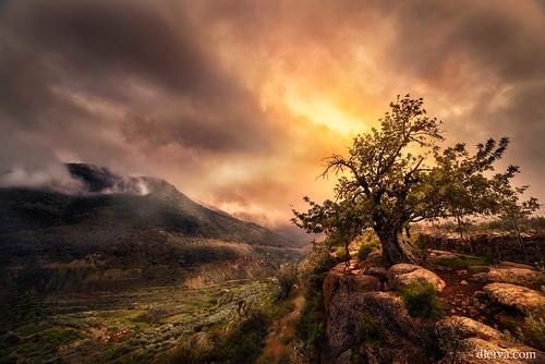 Sunset in Sierra de Gador, Alcora, Almeria, Spain