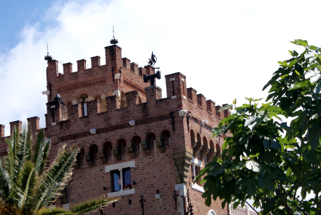 Détails du château de Türkecke  au dessus de Boccadasse à Gênes.