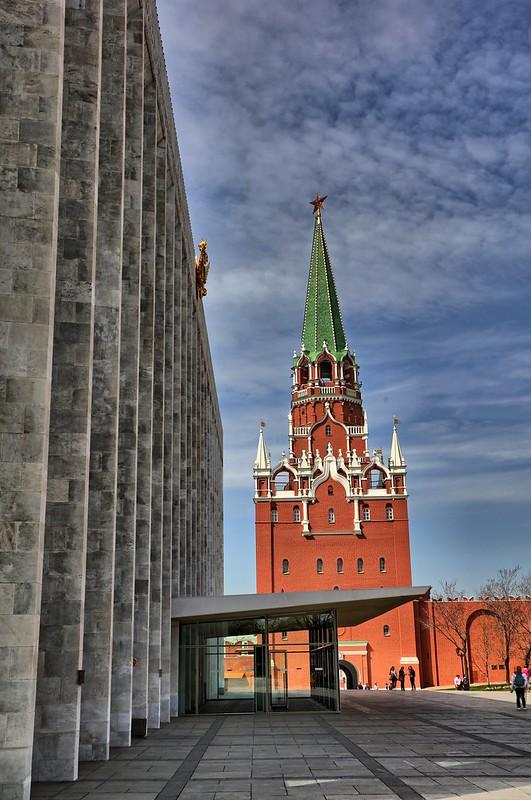 Borovitskaya Tower and State Kremlin Palace