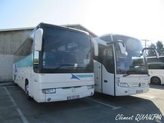 RVI Iliade GTX - 028031 & MERCEDES-BENZ Tourismo M - 136009 - Keolis Gironde - Photo of Salaunes