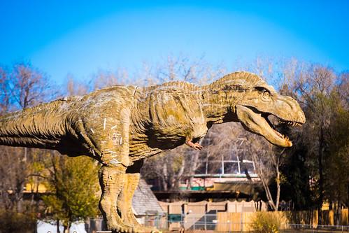 america blackhills custercounty dinosaurmuseum southdakota tyrannosaurus tyrannosaurusrex usa unitedstates unitedstatesofamerica dinosaur sculpture rapidcity us fav10