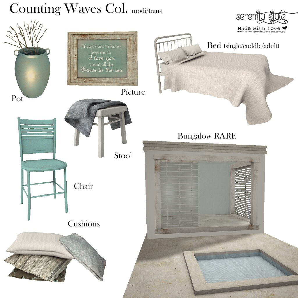 Serenity Style- Counting Waves Gacha Col. - SecondLifeHub.com