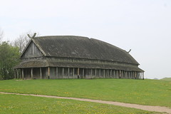 Reconstructed long-house Outline of ship building of Trelleborg Ring Fort.