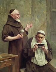 monjes afeitando