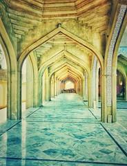 زیر تعمیر مسجد کی راہ داری، کنڈیارو, سندھ