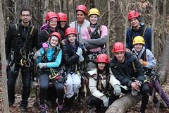 Virginia Canopy Tours Zipline course winter