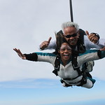 Tandem Skydivers Brittney & Cliff - All Smiles In Freefall!