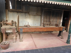 2017 0626 Eagle Foundry - believed to be the the original face plate lathe bed that was made from wood by James Martin
