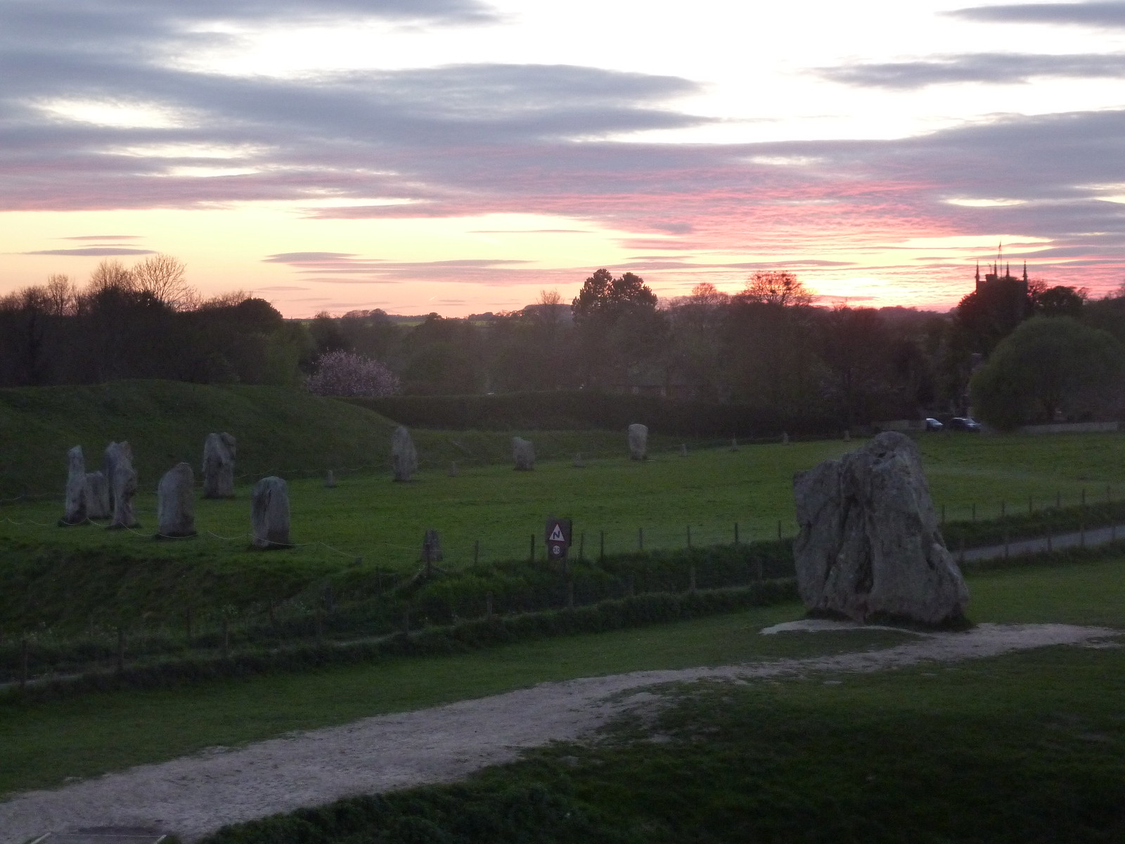 Avebury at Sunset