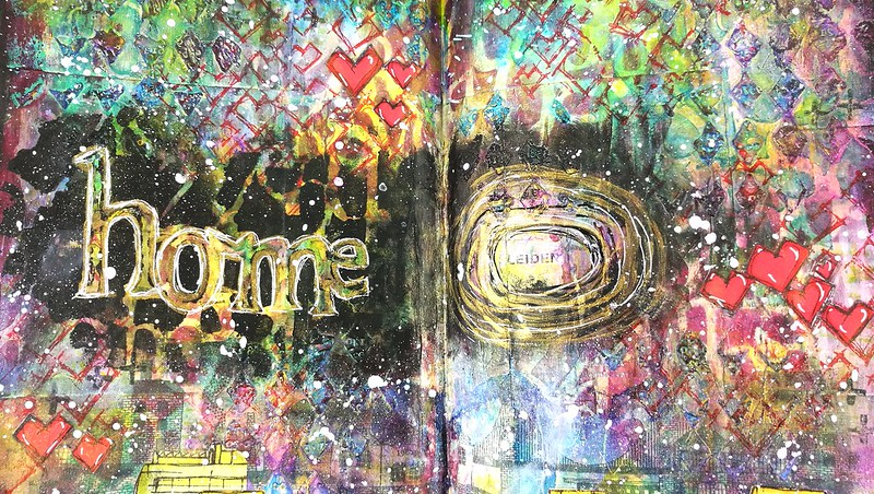 art journal: there is no place like home