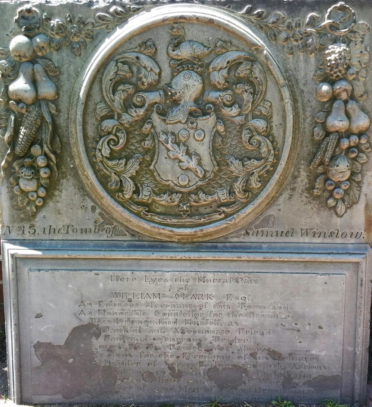 Heraldic Headstone carving