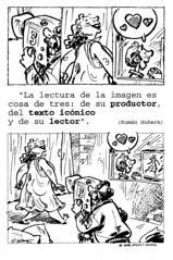 Una viñeta de Morata sobre un texto de Roman Gubern