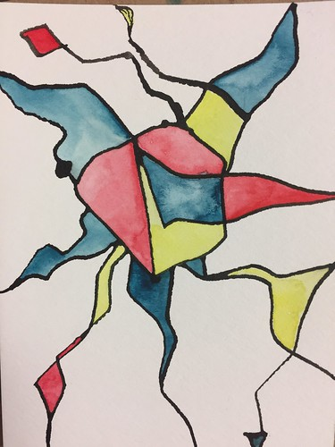 19 Ink and Watercolour Abstract 3