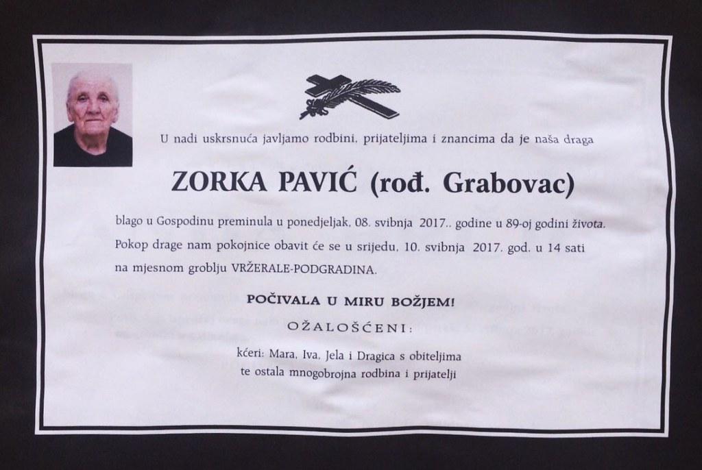 Zorka Pavić rođ. Grabovac