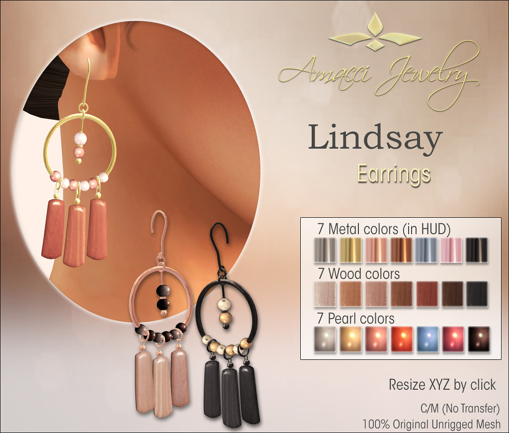 Amacci Lindsay Earrings - SecondLifeHub.com