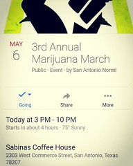 Come out and show support for prop HB2107  #norml #sanorml #marihuana #legalizeit #marijuanamarch #marijuana #marihuanamarch Rally is 3:00, march starts at #420 pm