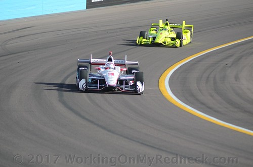 Helio Castroneves and Simon Pagenaud