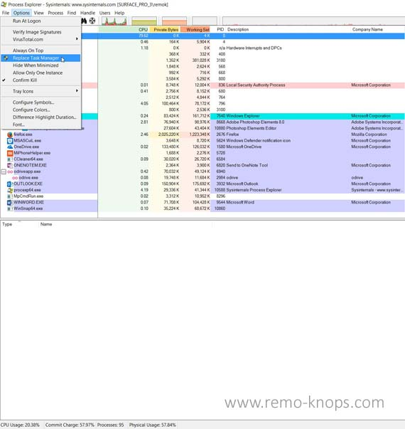 Sysinternals Process Explorer 121