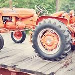 Tractor on Flatcar