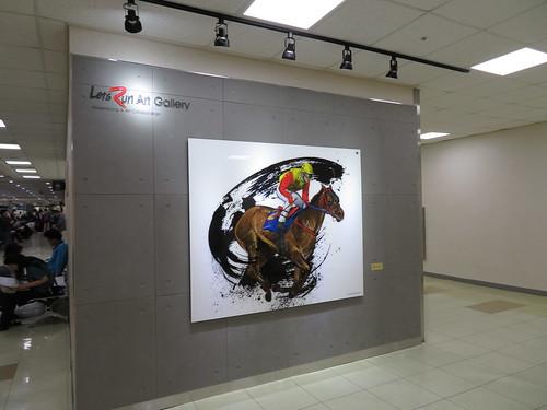 釜山慶南競馬場のスタンド3階のアート作品