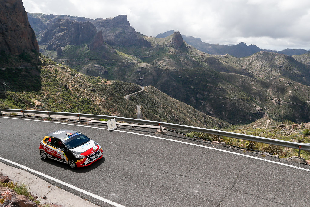 38 BEDORET Sebastien (BEL),  WALBRECQ Thomas (BEL), PEUGEOT 208 VTI R2 , Action during the 2017 European Rally Championship ERC Rally Islas Canarias, El Corte Inglés,  from May 4 to 6, at Las Palmas, Spain - Photo Alexandre Guillaumot / DPPI