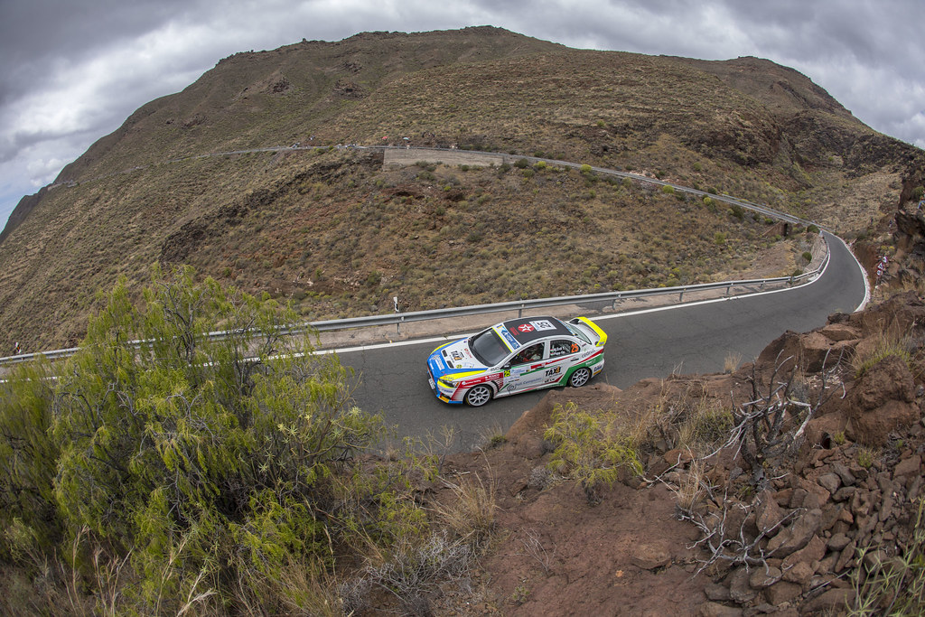 25 ERDI junior Tibor (HUN), GYORGY Papp (HUN), Mitsubishi lancer evo X, Action during the 2017 European Rally Championship ERC Rally Islas Canarias, El Corte Inglés,  from May 4 to 6, at Las Palmas, Spain - Photo Gregory Lenormand / DPPI