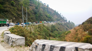 traffic jams out of Kathmandu
