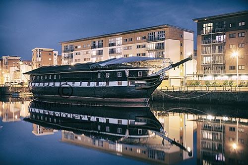 Historic Unicorn Ship - Docked at City Quay - Dundee Scotland
