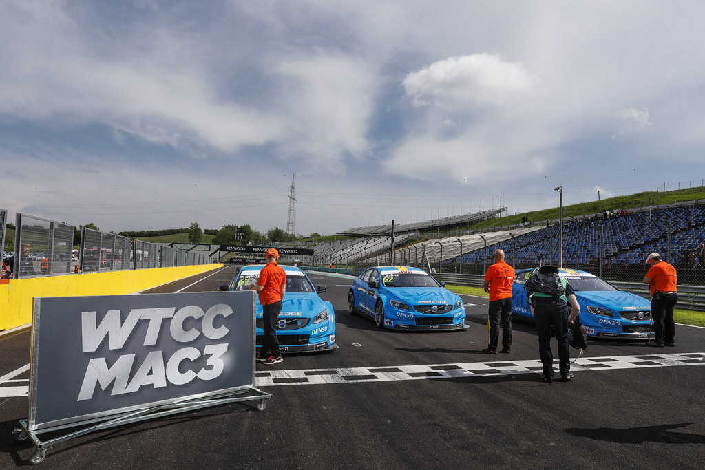 MAC 3 61 GIROLAMI Nestor (arg), Volvo S60 Polestar team Polestar Cyan Racing, action 62 BJORK Thed (swe), Volvo S60 Polestar team Polestar Cyan Racing, action 63 CATSBURG Nicky (ned), Volvo S60 Polestar team Polestar Cyan Racing, action    during the 2017 FIA WTCC World Touring Car Race of Hungary at hungaroring, Budapest from may 12 to 14 - Photo Frederic Le Floc'h / DPPI