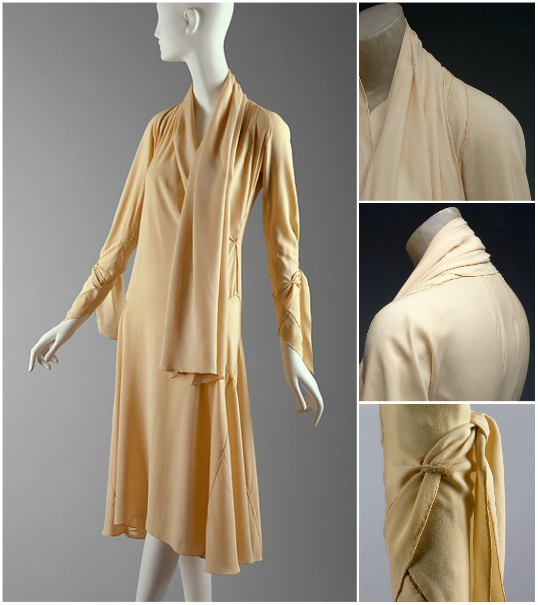 1920 Madeleine Vionnet dress. French. Silk. metmuseum.org