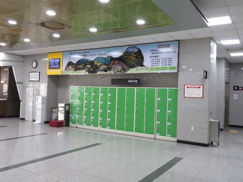 釜山慶南競馬場のコインロッカー