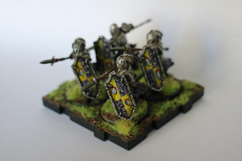 Runewars Miniatures Spearmen Purple Back