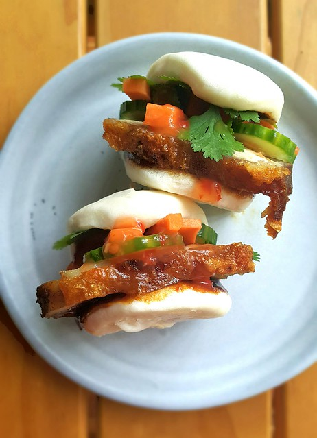 Roast pork. Bao. Crispy crackling