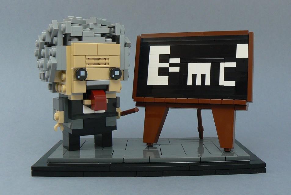 Albert Einstein (custom built Lego model)