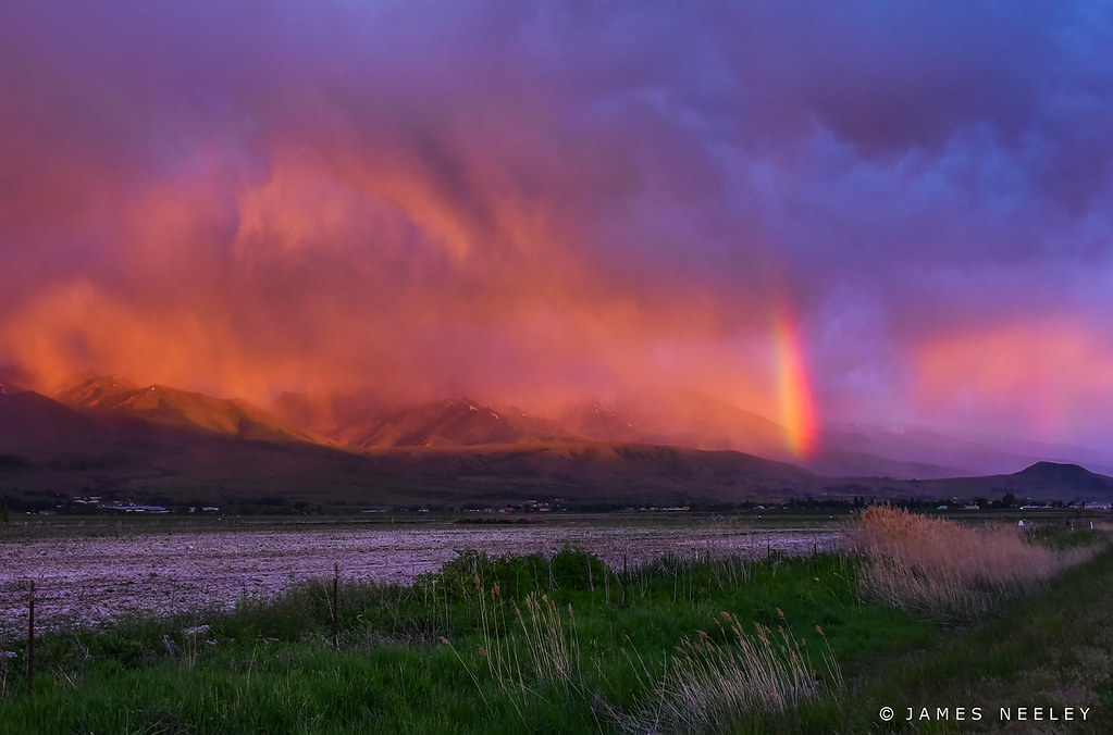 Spring Storm at Sunset