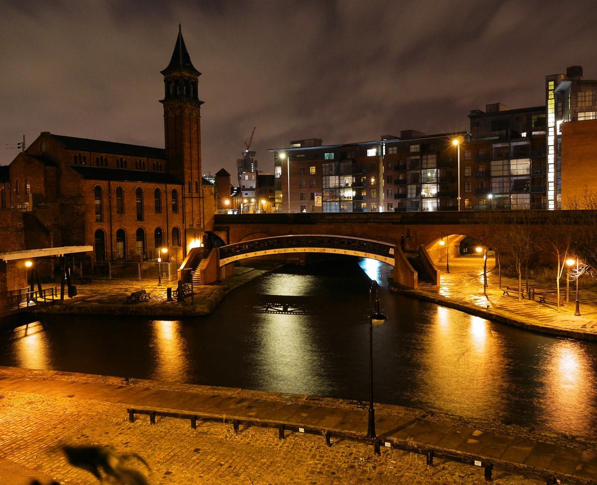 Bridgewater Canal basin near Castlefield, Manchester. Credit Smabs Sputzer