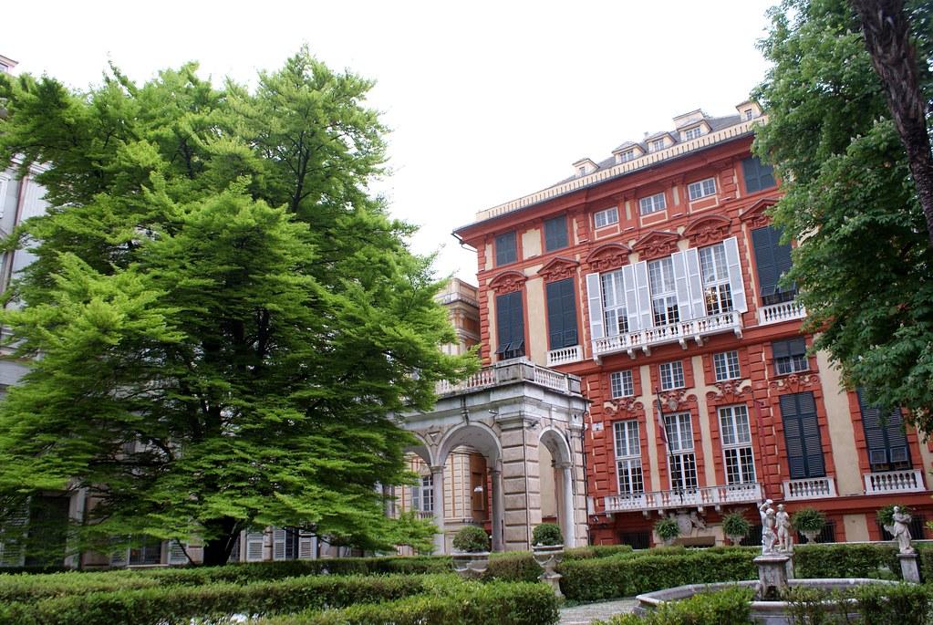 Jardin suspendu du Palazzo Rosso à Gênes.