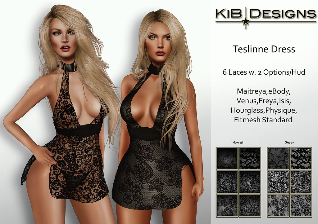 KiB Designs - Teslinne Dress Exclusive for The Darkness - SecondLifeHub.com