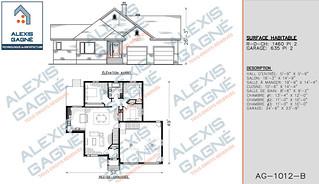 Plan de maison 1 étage avec garage - MM1eG.06