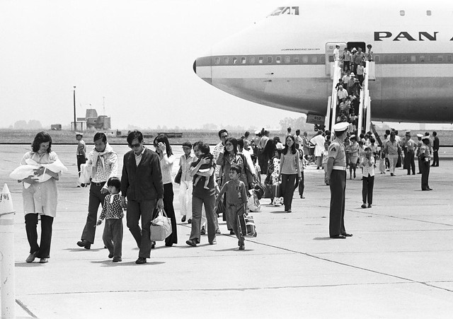 Camp Pendleton - 4-30-1975 Vietnamese Refugees Arrival - photo by Jim Mosby