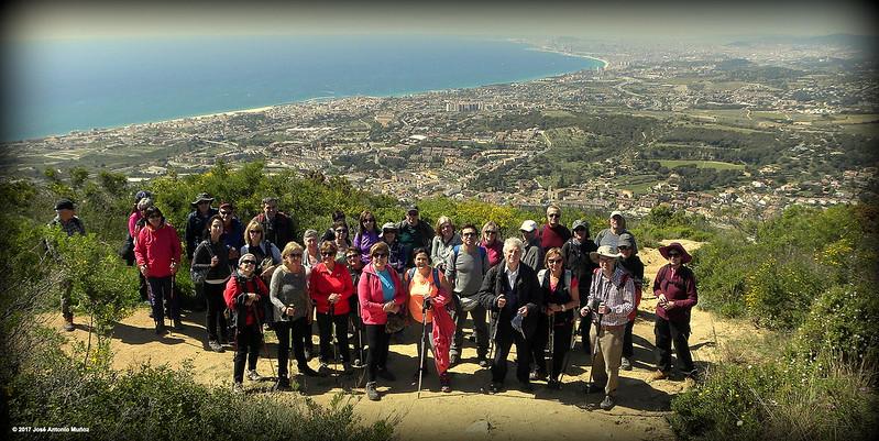 El blau Mediterrani des de la Serra de St Mateu