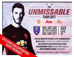One night only! Join our family in #SLC for the #MUTour2017! My friends at @oneunitedusa and @manchesterunited have some exclusive deals just for supporters here in the States! It's going to be a great summer! #MUFC 🔴⚪️:black_circl