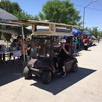 the solar golf cart