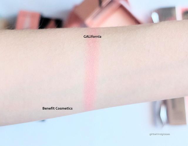 Benefit Cosmetics GALifornia Blush swatch