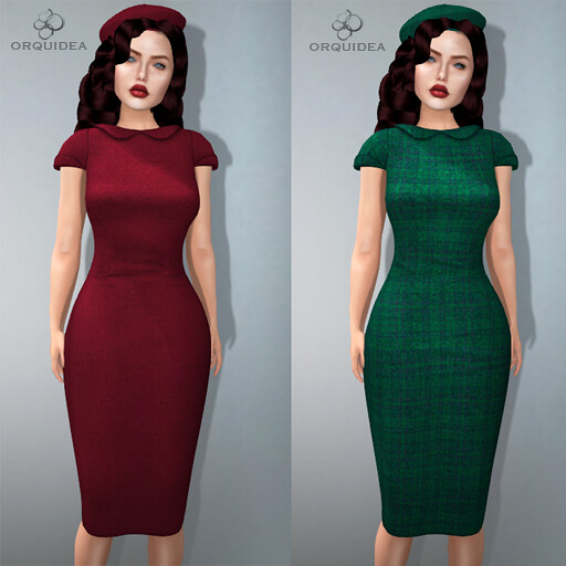 ORQUIDEA Long Wool Dresses AD - SecondLifeHub.com