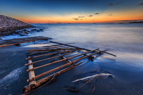 旗津區 高雄市 台灣 taiwan kaohsiung 6d ef1635mm longexposure 長曝 sunset 夕陽 夕彩 日落 海岸 海灘 海邊