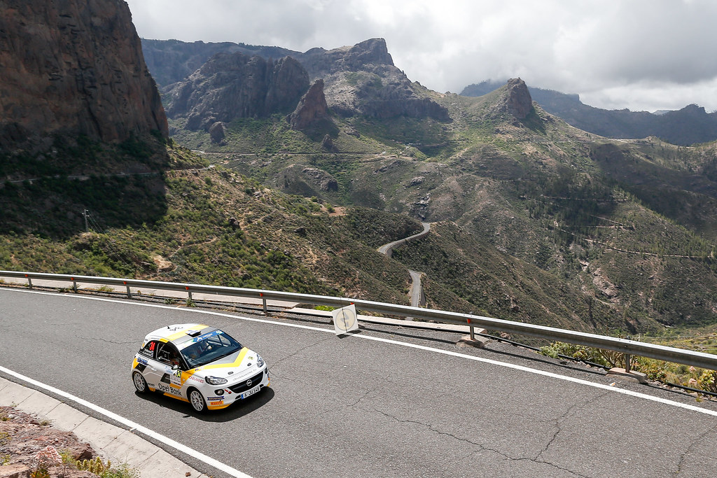 34 HUTTUNEN Jari (FIN) LINNAKETO Antti (FIN) Opel Adam R2 Action during the 2017 European Rally Championship ERC Rally Islas Canarias, El Corte Inglés,  from May 4 to 6, at Las Palmas, Spain - Photo Alexandre Guillaumot / DPPI