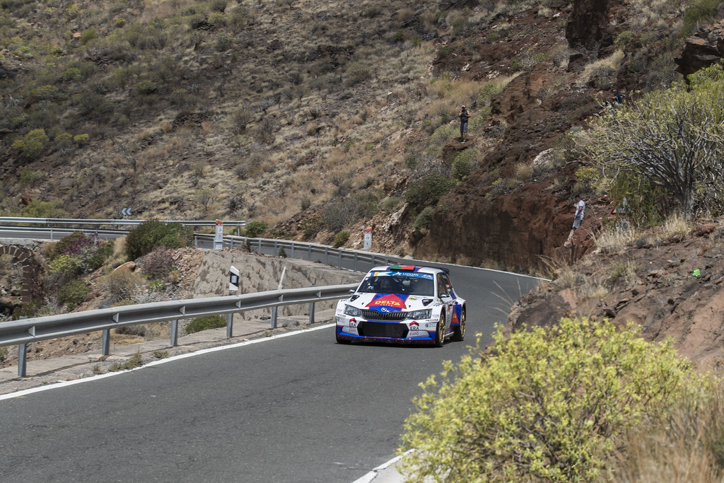 01 MAGALHAES Bruno (prt), MAGALHAES Hugo (prt), skoda fabia R5, during the 2017 European Rally Championship ERC Rally Islas Canarias, El Corte Inglés,  from May 4 to 6, at Las Palmas, Spain - Photo Gregory Lenormand / DPPI